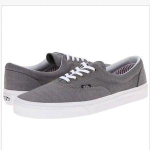 Vans Era Suiting Charcoal True White Skate Shoes +